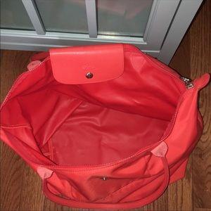 Longchamp Bags - Orange Longchamp large tote